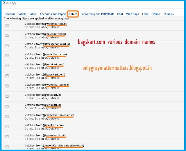 bagskart.com, dealskart.com, lenskart.com, watchkart.com, jewelskart.com