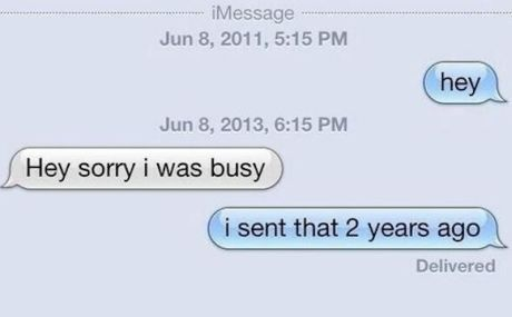 You forgot replying her text