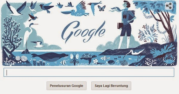 Google Doodle Rayakan Ulang Tahun ke 107 Rachel Louise Carson