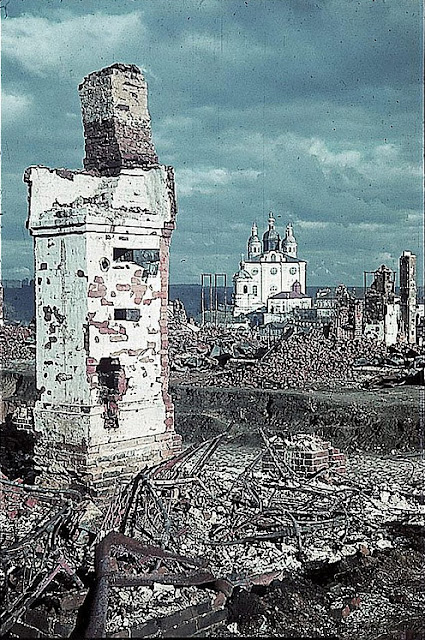 Assumption Cathedral in Smolensk, this area of the city was devastated during the invasion.
