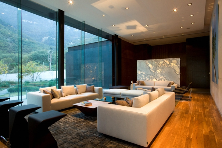 Living room of Modern contemporary CT House in Mexico
