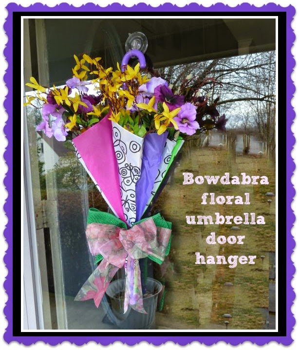 Make It Easy Crafts Bowdabra Floral Umbrella Door Hanger Tutorial