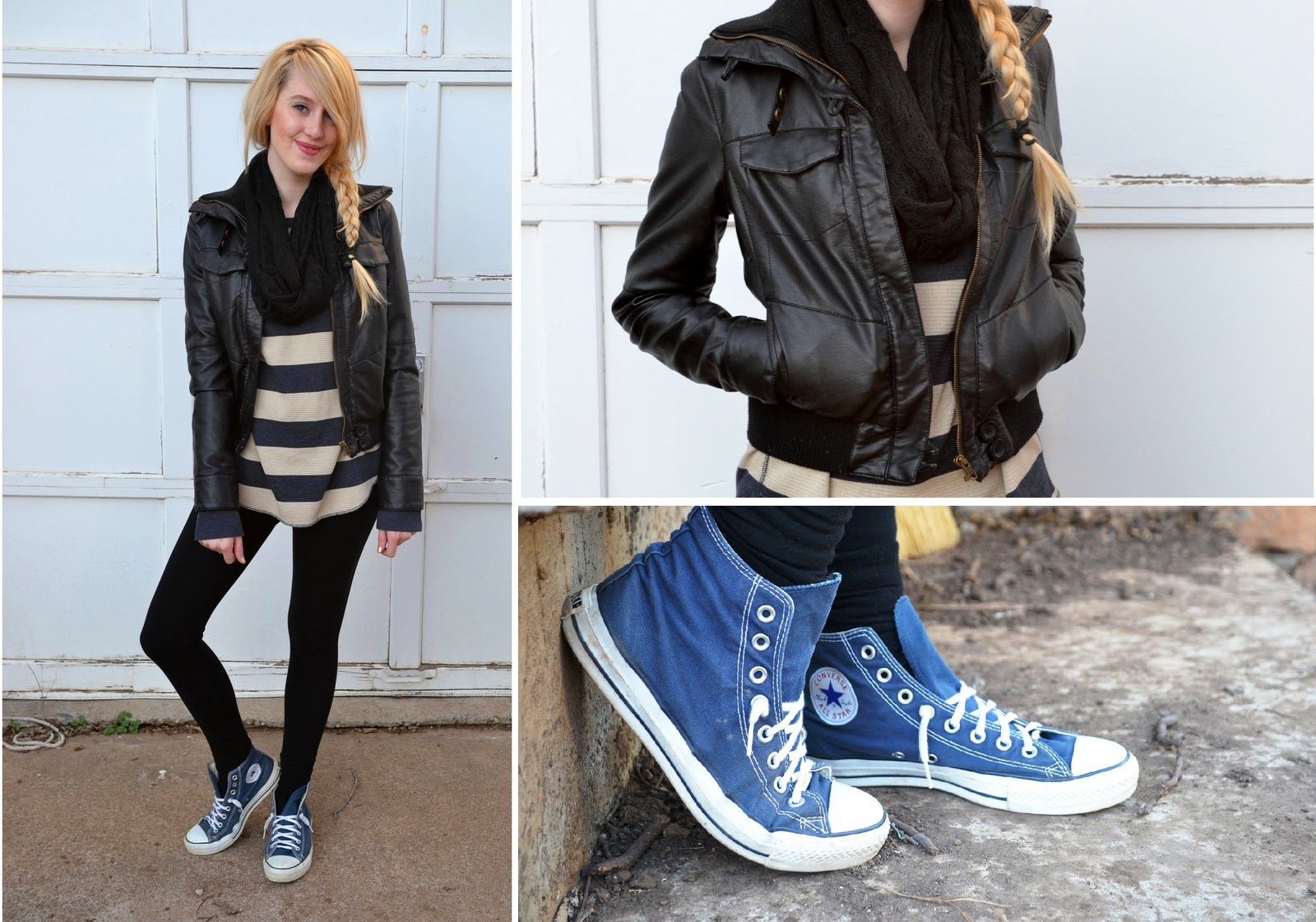 High top converse with leggings