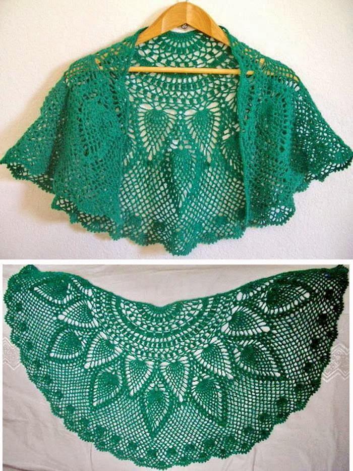 Crochet Pattern Lace : Crochet Shawls: Crochet Lace Capelet Pattern - Beautiful