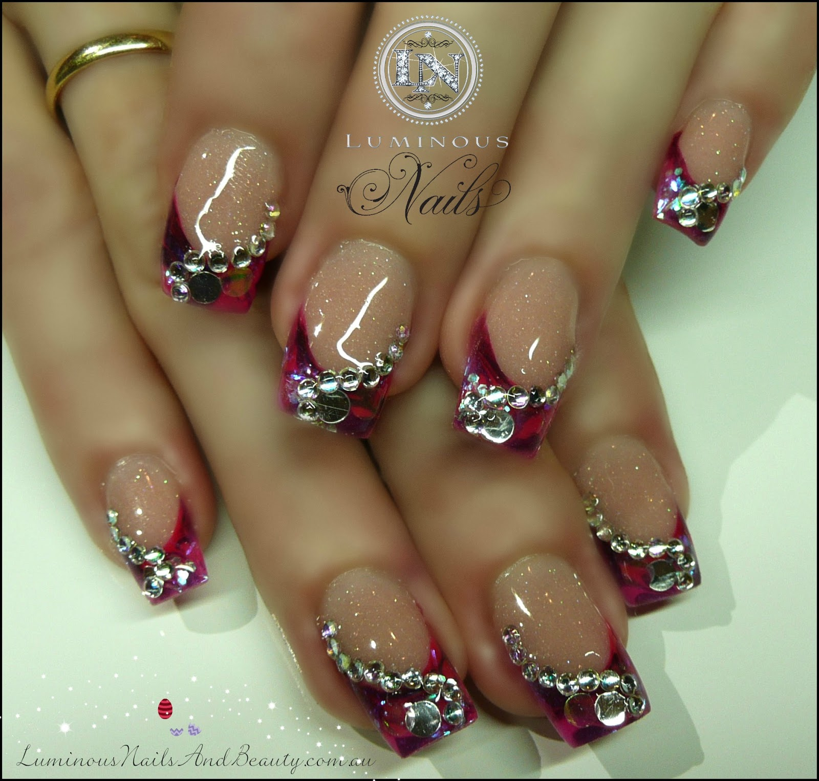 The Amusing Pink and purple nail designs Images