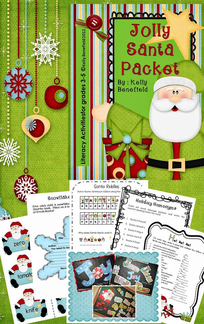 http://www.teacherspayteachers.com/Product/Jolly-Santa-Christmas-Packet-450246