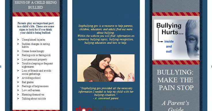 Bullying Bullying Brochure