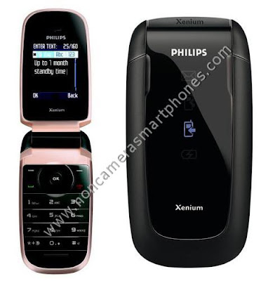 Philips Xenium 9@9h GPRS Flip Phone Images, Features & Photos.
