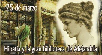 Hipatia y la historia de la gran biblioteca