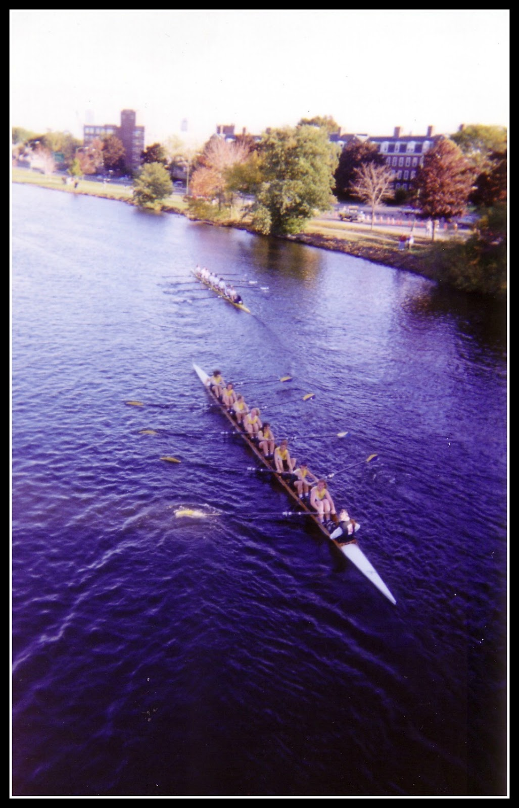 head of the charles, lesley university crew, lesley college crew team, rowing on the charles, port side rowing, charles river