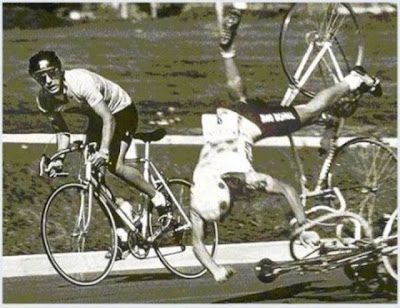 Falha em bicicletas, Tombos de bike