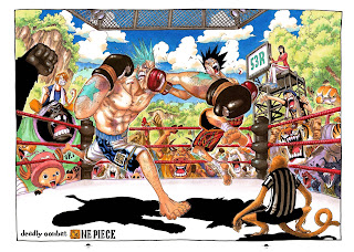 One Piece Franky Luffy Nico Robin Chopper Sanjin Anime Boxing Ring Animal HD Wallpaper Desktop Background