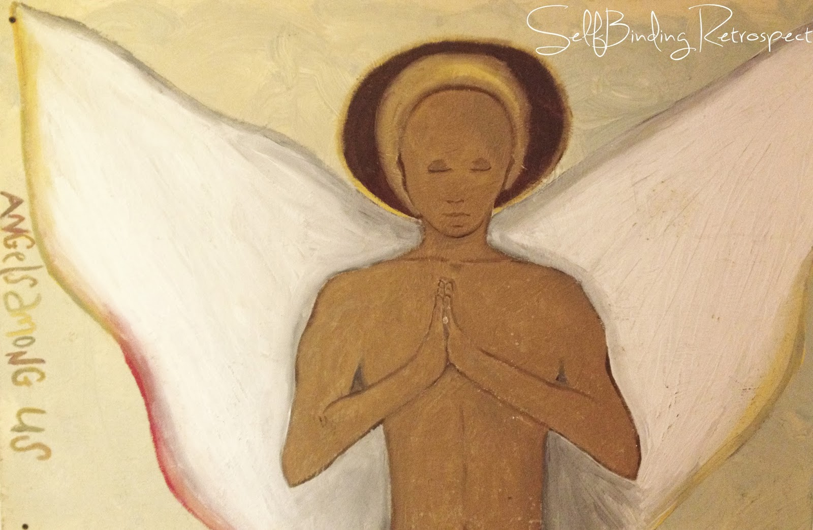 angel, guardian angel, painting, acrylic, angels among us