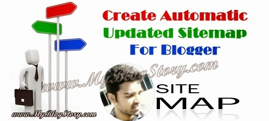 Sitemap Creator and Generator for your blogspot blog