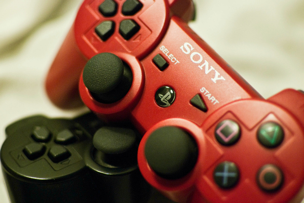 Control rojo de PlayStation