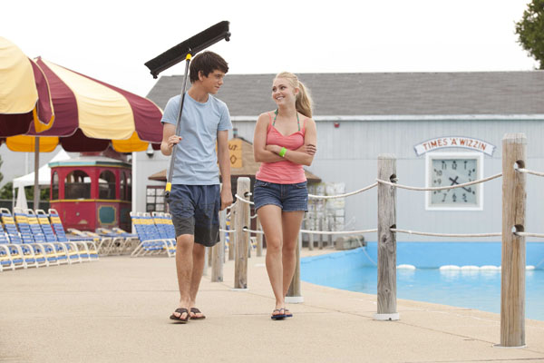At Water Wizz Water World -  Liam James and AnnaSophia Robb inThe Way, Way Back. Photo by Claire Folger – © 2013 - WWBSP LLC. All Rights Reserved.