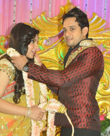 Actor Bharath Jeshly's Wedding Reception Photos