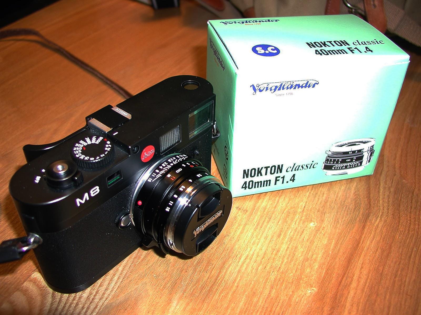 Leica M8 and Nokton 40mm box
