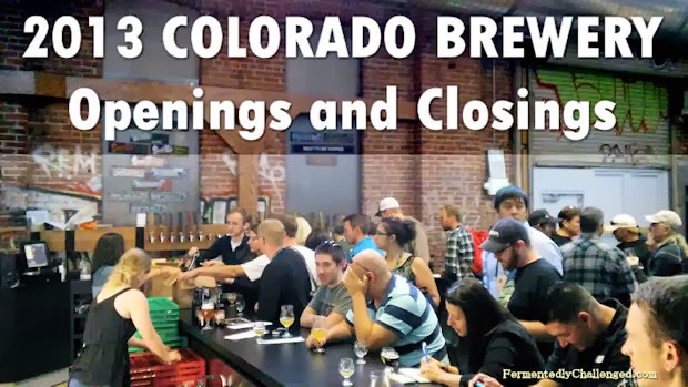 2013 Colorado Brewery Openings and Closings