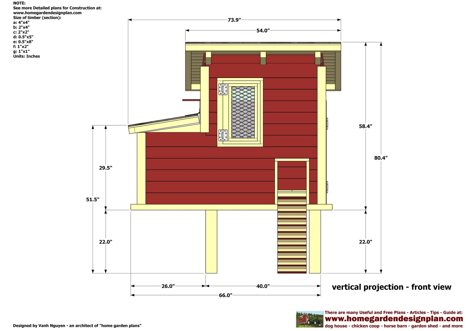 Home garden plans s300 chicken coop plans construction for Coop house plans