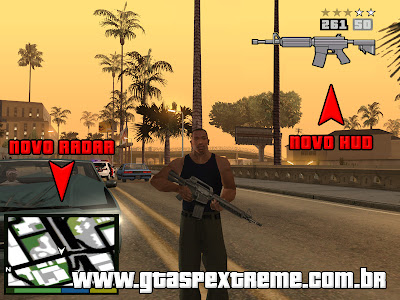 Radar e HUD do GTA 5 para GTA:SA para GTA San Andreas
