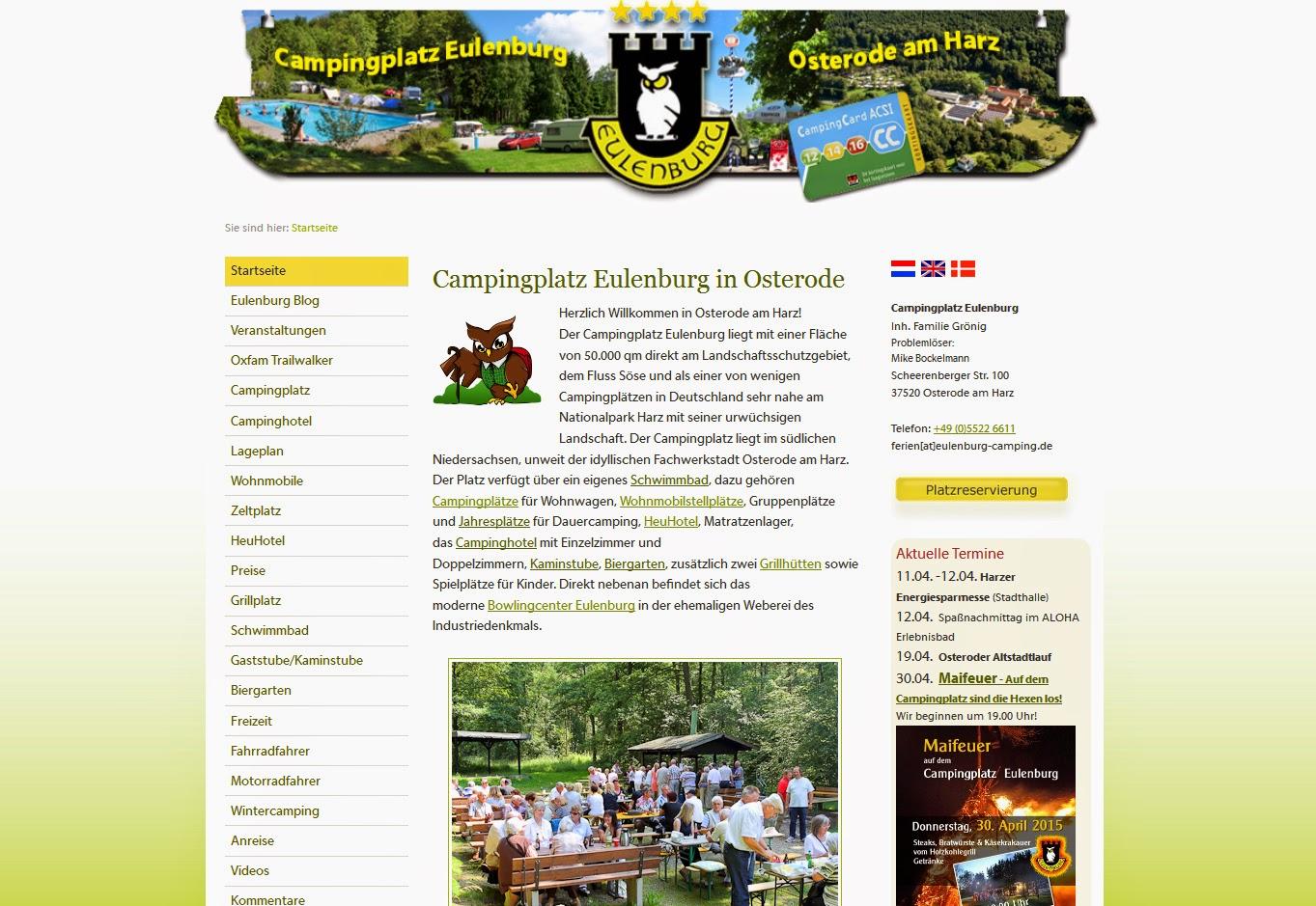 Campingplatz Eulenburg Homepage