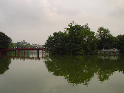 Red Bridge on Hoan Kiem Hanoi