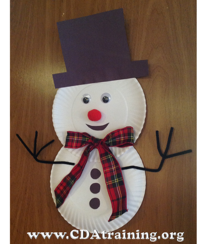 Paper Plate Snowman & Child Care Basics Resource Blog: Paper Plate Snowman