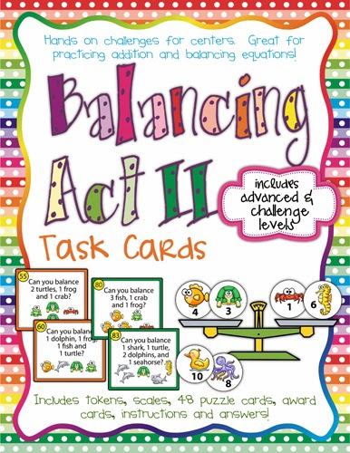 http://www.teacherspayteachers.com/Product/Balancing-Act-II-Task-Cards-for-Balancing-Equations-977382