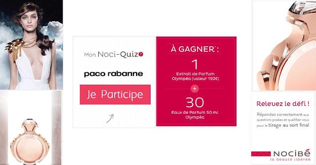 Jeu Concours Nocibé 30 Eaux de Parfum OLYMPÉA à gagner !