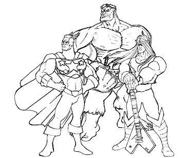 #5 Justice Friends Coloring Page