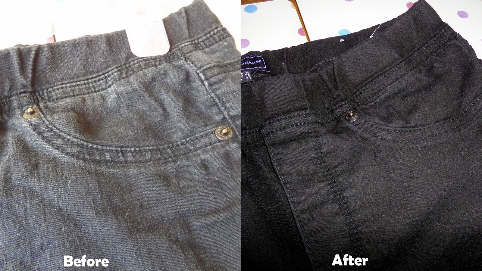 DIY Restoring Faded Black Jeans | Lauren Loves Blog