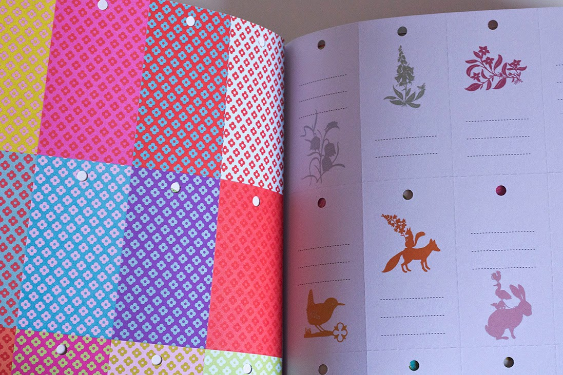 colourful tags in the Book for paper lovers II