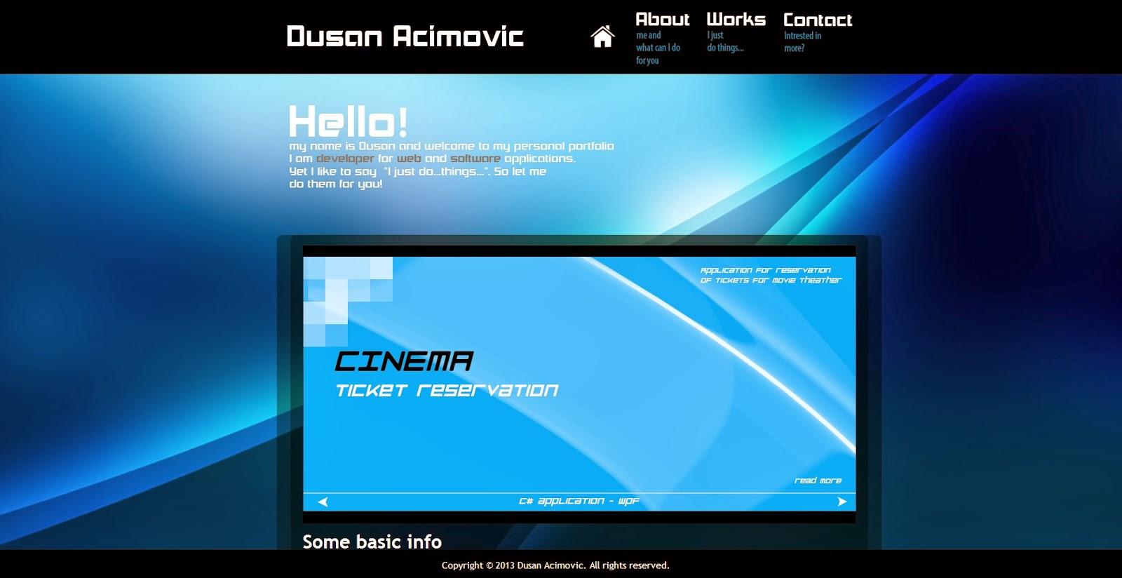 Dusan Acimovic Old Portfolio