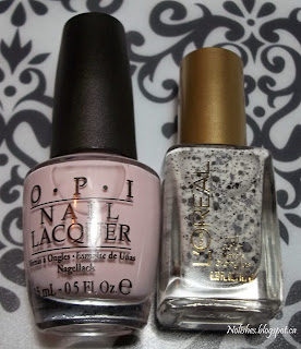 OPI 'Steady as she Rose', and L'Oréal Paris 'Le Pastille'