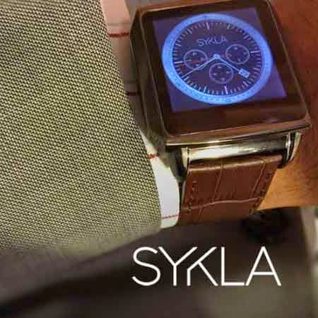 SYKLA M1 - The Elegant Smart Watch Premium Brown Gator Skin