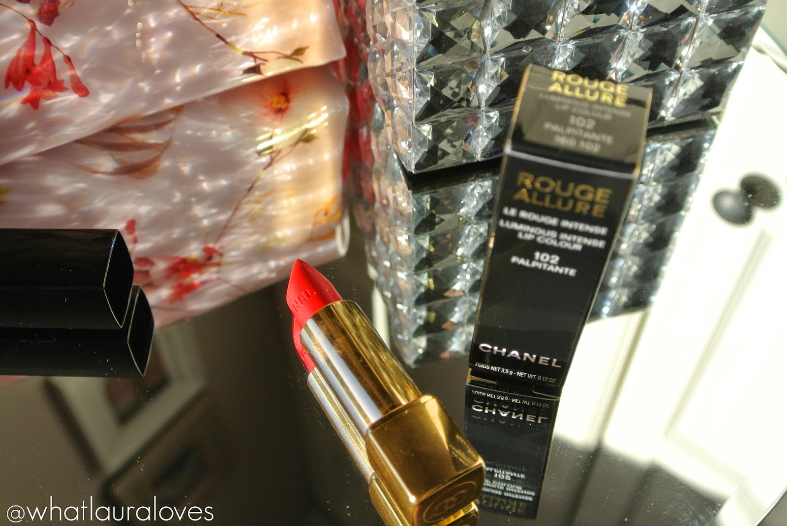 Chanel Rouge Allure Lipstick in Palpitante Review and Swatches