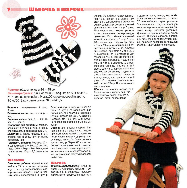 Схема вязания шарфа спицами для мальчиков