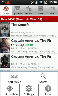 Android Movies - Settings