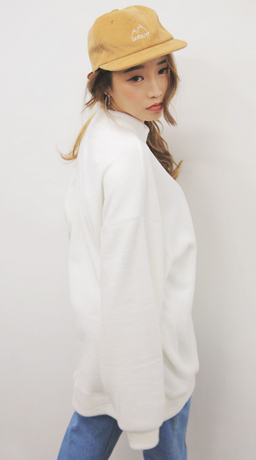 Slit Accent Asymmetrical Hem Sweatshirt