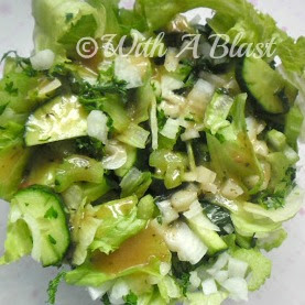 With A Blast: Crunchy Green Salad   #salads  #greens