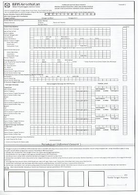 Formulir Daftar Isian Peserta BPJS