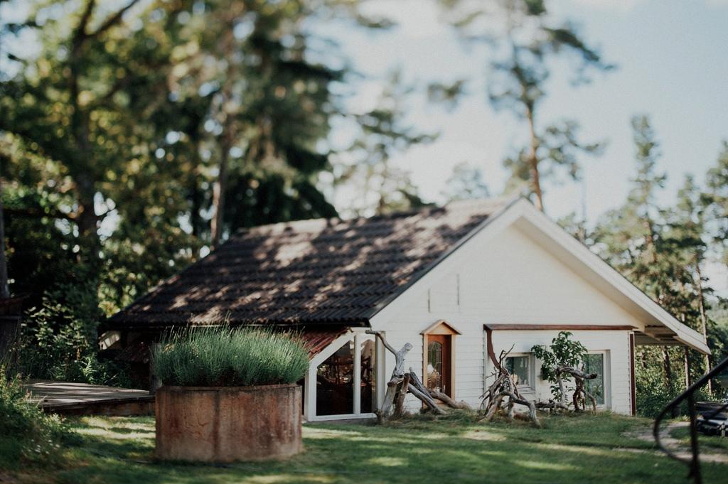 Detaljbild på gästhuset