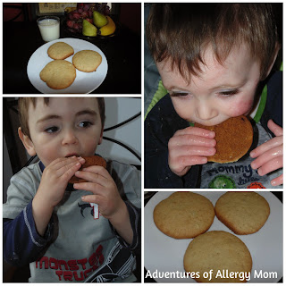 The softest banana sugar cookies you will ever taste. Allergy free and Gluten free
