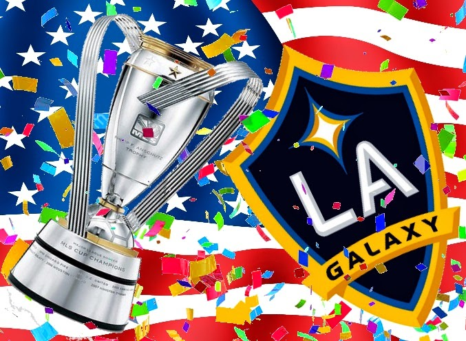 Los Angeles Galaxy team wins the Major League Soccer