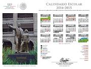 CALENDARIO ESCOLAR 2014 -2015