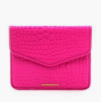 Neoprene Croc Embossed  Envelope Clutch Marc by Marc Jacobs Pink