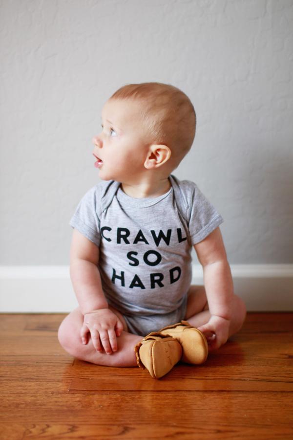 Crawl So Hard baby onesie