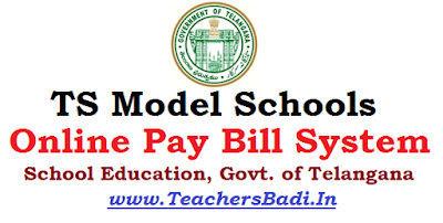 Online Paybills Monitoring System ,TS Model Schools, GUideliens