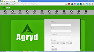 Sign Up Page Agryd